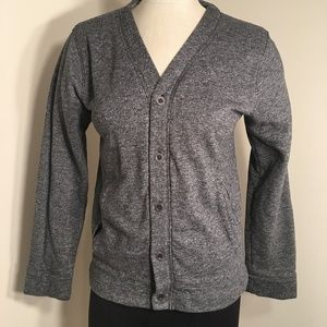 Helix Sweatshirt Button Up Gray Cardigan size L